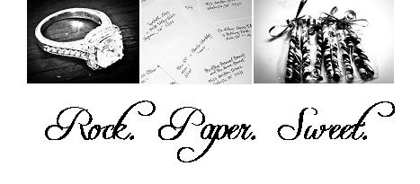 Rock. Paper. Sweet.
