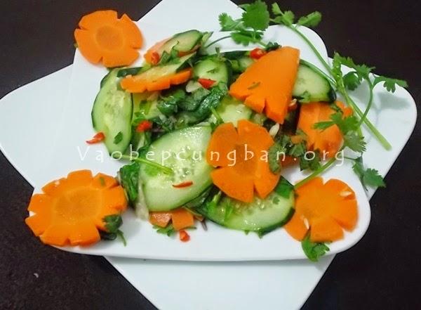 Cách làm dưa góp dưa chuột cà rốt