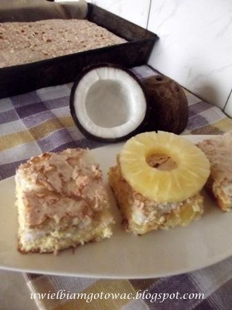 Ciasto ananasowo-kokosowe