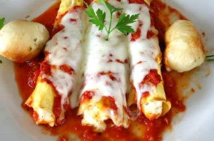 Manicotti looking quite delicious