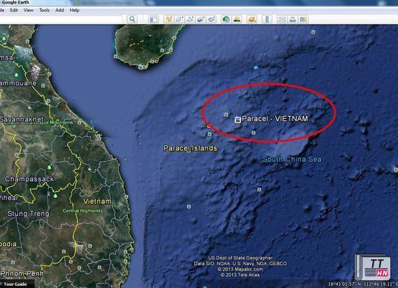 Google Earth đã thể hiện rõ quần đảo Hoàng Sa là của Việt Nam