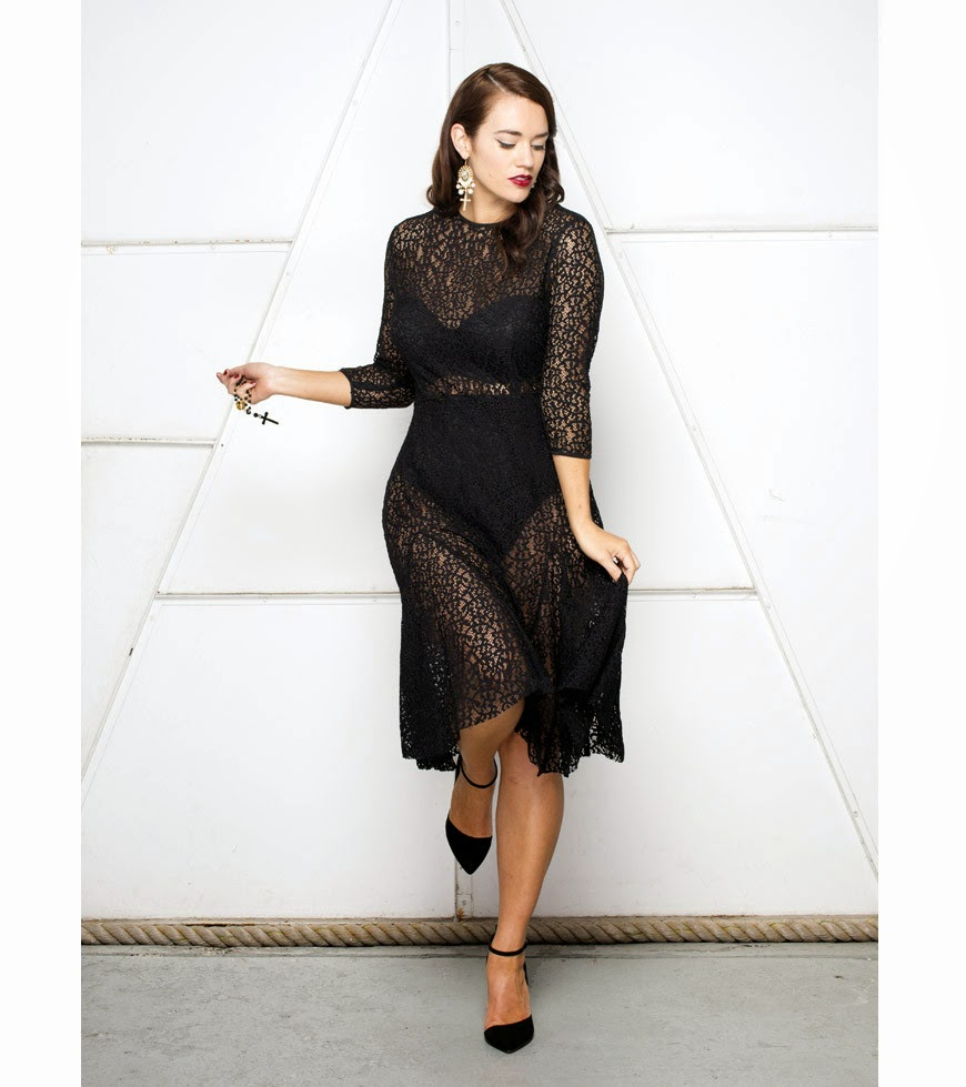 Plus Size Fashion Designer Lala Belle, plus size fashion, sheer dresses