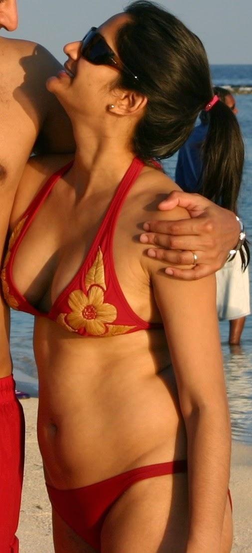 NRI Auntie hot bikini show - Hot & Sexy Bikini Galleries
