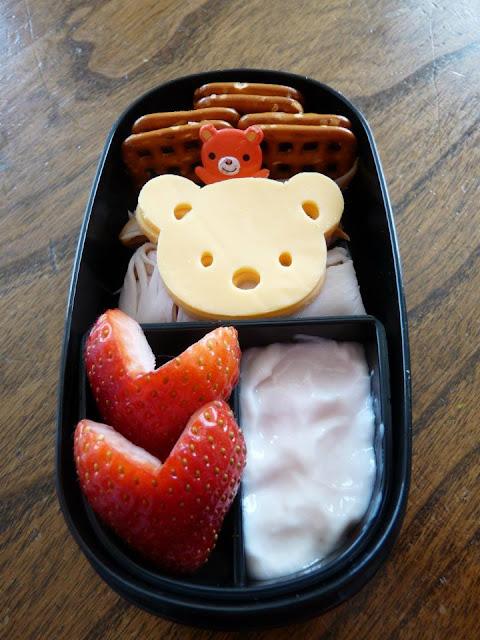 bear heart bento lunch
