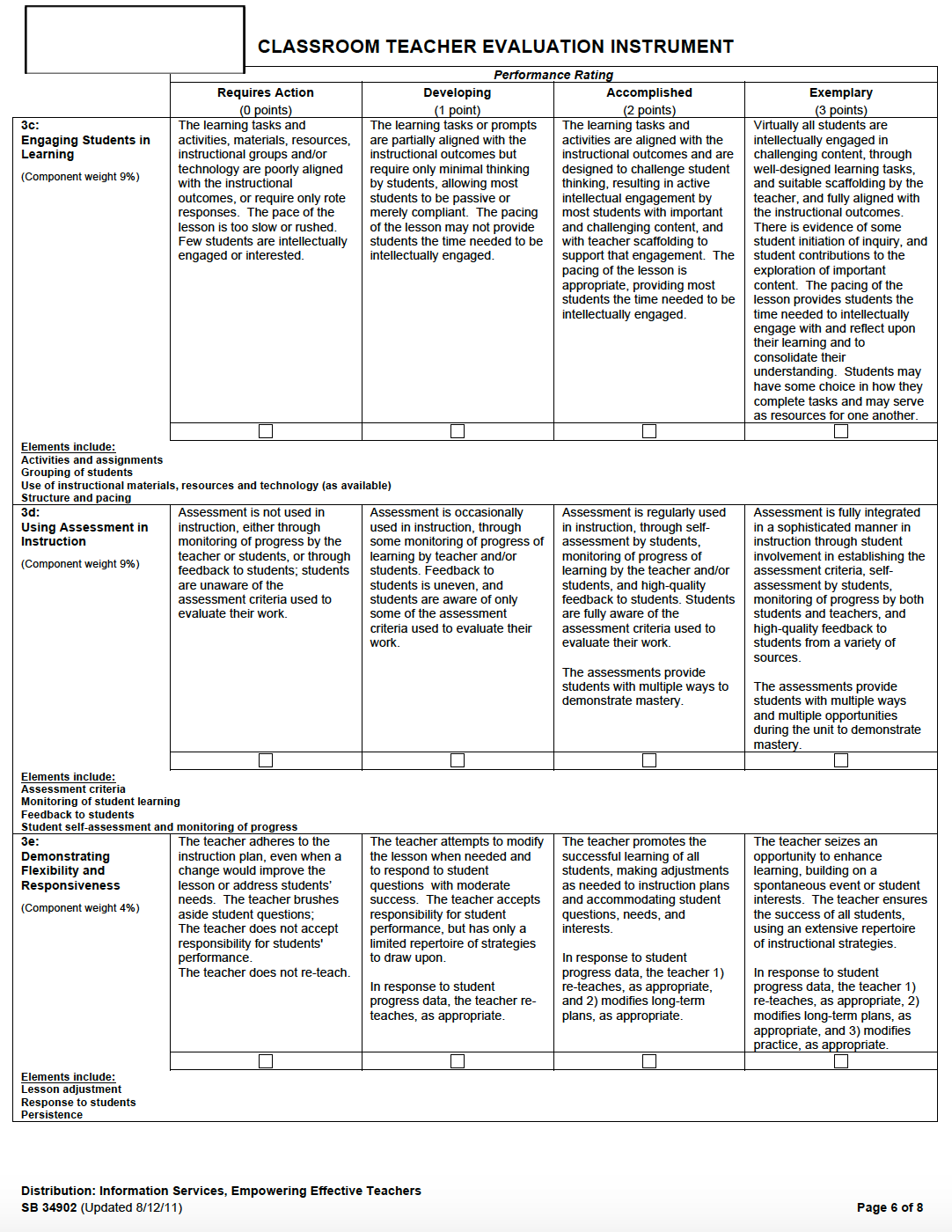observation and evaluation of a teachers lesson Teacher evaluation a  the preparation by teachers to be the subject of an evaluation  instruments such as self-evaluation, classroom observation and a.
