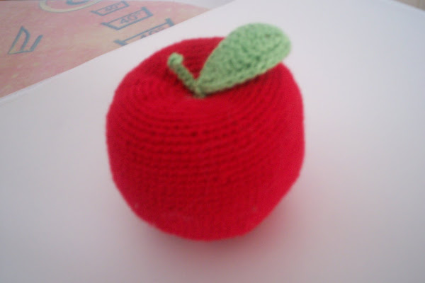 manzana a ganchillo