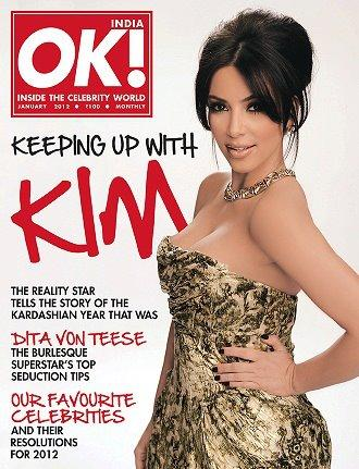 Kim Kardashian on OK India Magazine1 - Kim Kardashian on OK! India Coverpage