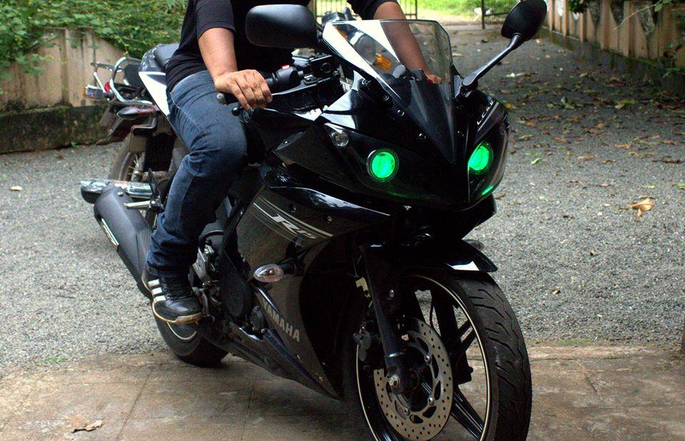 R15 V2 Modified With Projector Lights Yamaha R15 | Ya...