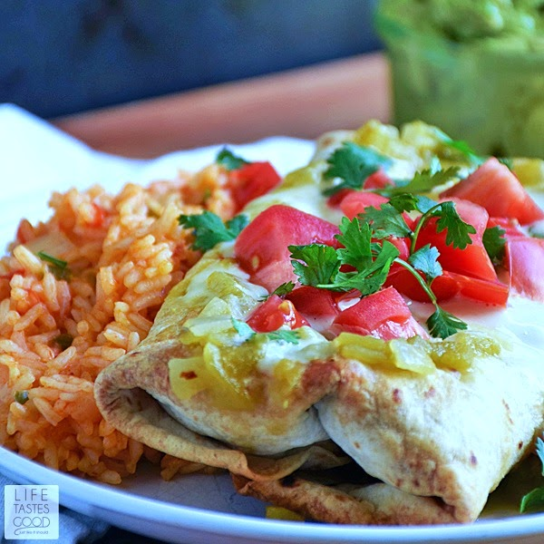 If you need an easy dinner recipe that tastes AH-mazing, you've landed on the right page! Easy Baked Chicken Chimichangas   by Life Tastes Good are better than restaurant quality (imho) and made easy with a delicious short cut. I'm so excited to share my super secret shortcut recipe with you!