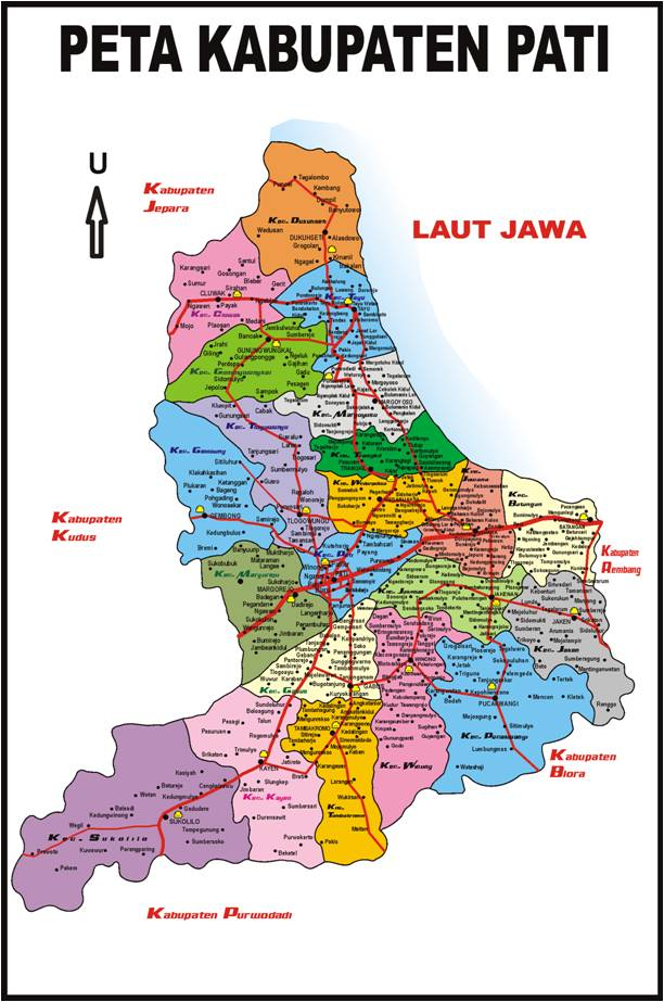 Pati Indonesia  City pictures : Peta Wilayah Kabupaten Pati, Jawa Tengah, Indonesia