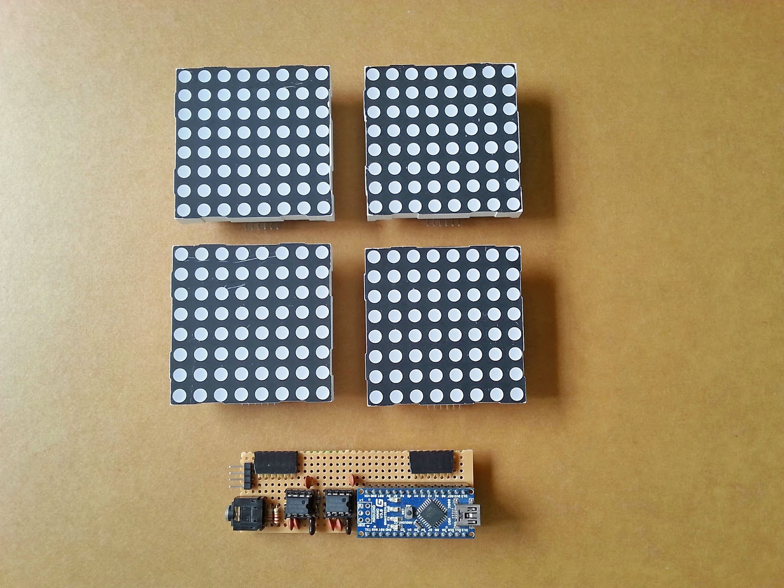 Jollifactory arduino based bi color led matrix audio