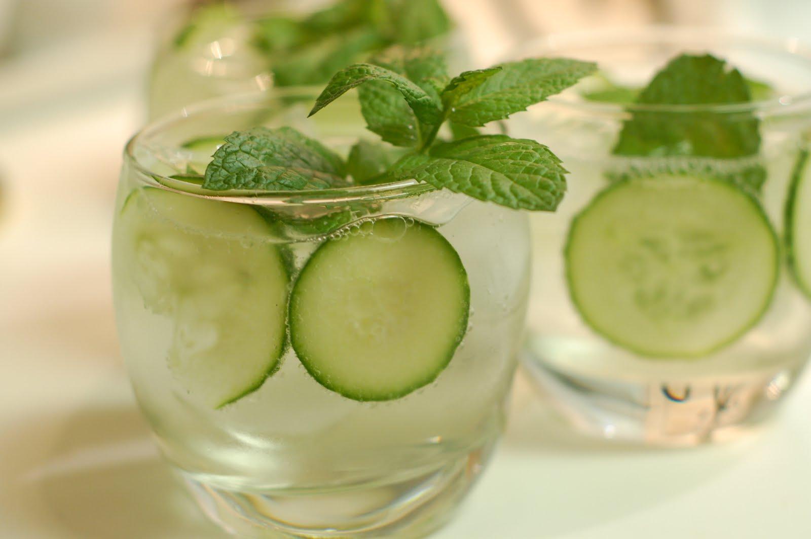 lbs good spoon: Cucumber, Mint, and Basil Soda