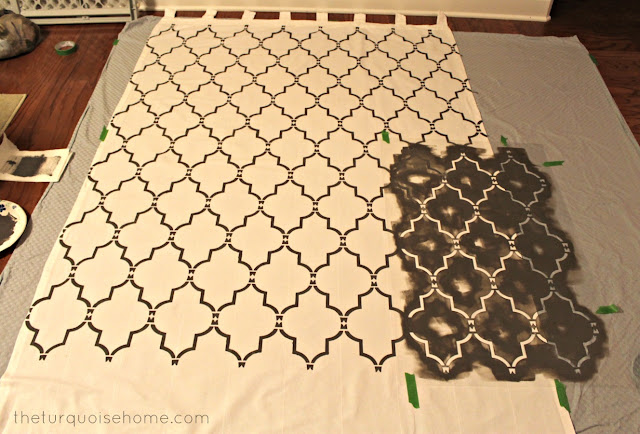 http://theturquoisehome.com/2012/11/how-to-stencil-curtains/