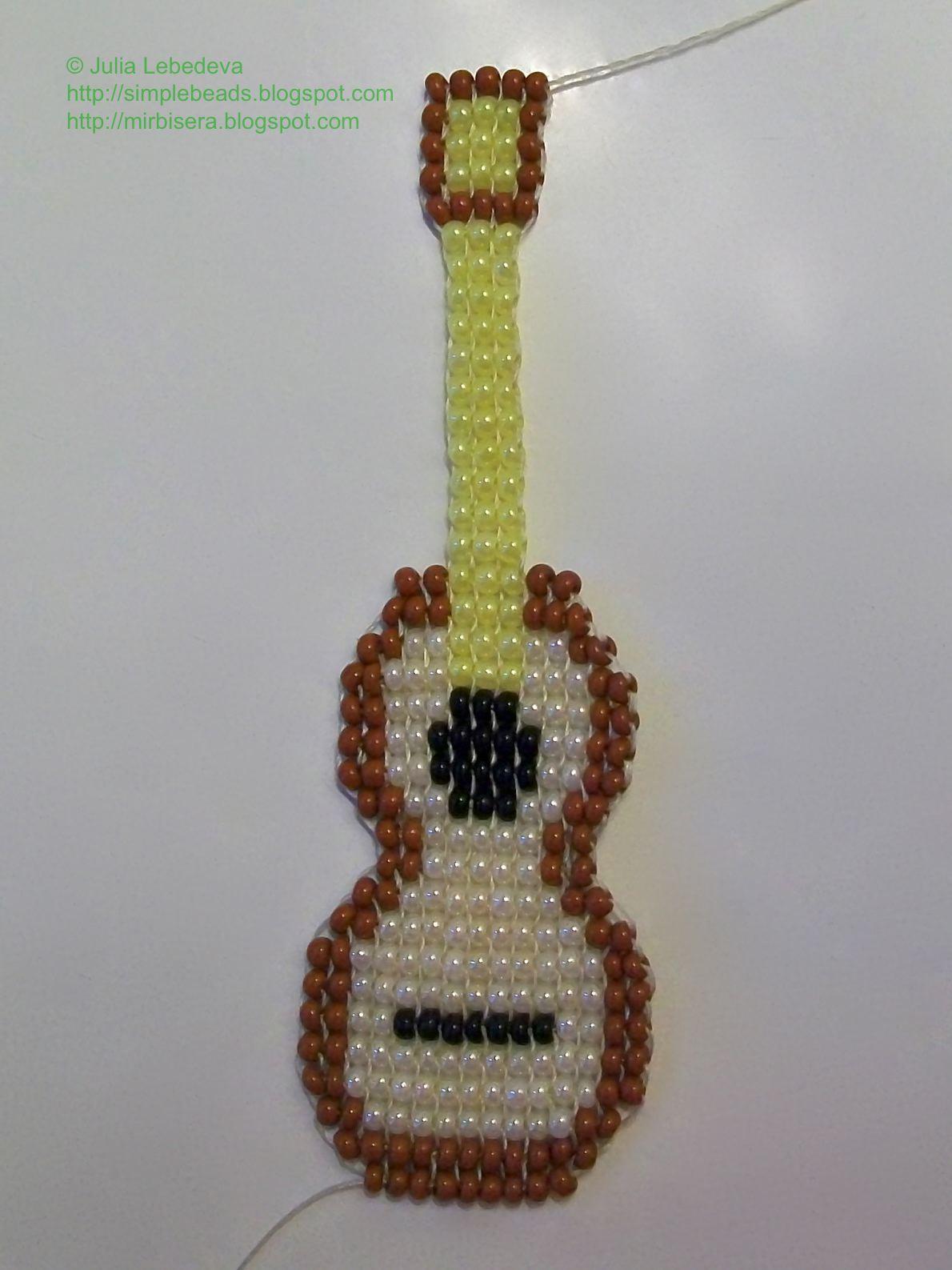 Как из бисера сделать гитару