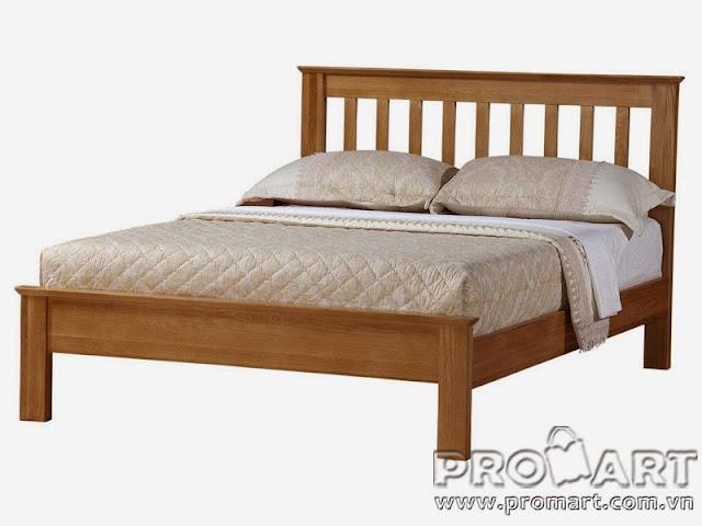 Giường ngủ gỗ sồi Dream kiểu đuôi thấp, 1.8x2m