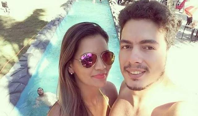 Paulo Regis Ferreira e a esposa Bruna Figueiredo