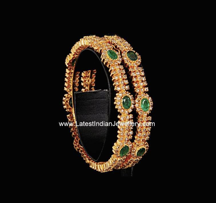 diamond emerald bangles