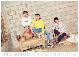 Foto Shownu dengan Wonho dan Minhyuk MOnsta X