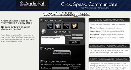 Crea audios personalizados para tu sitio web con AudioPal