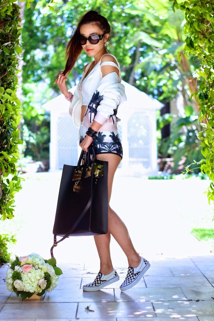 missguided,shallwesasa,street style,LA,palm tree