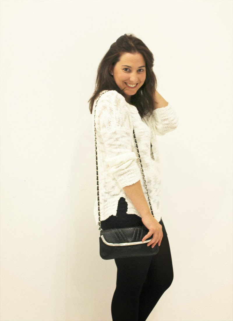 Outfit Blanco y Negro