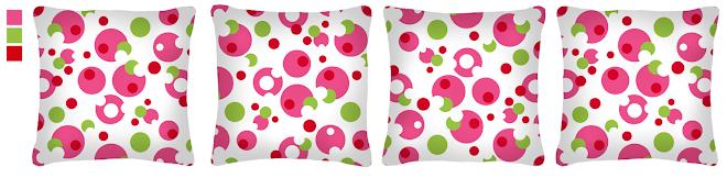 Almofadas Color Balls - R$62,00 conjunto com 4