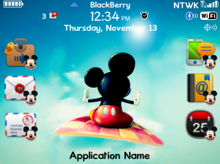 Tema Blackberry Mickey Mouse