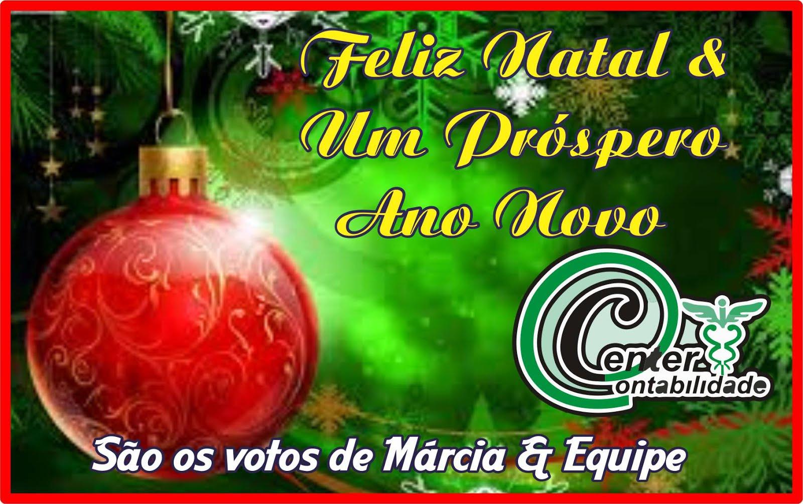 Center Contabilidade Deseja-lhes Um Feliz Natal e Próspero Ano Novo