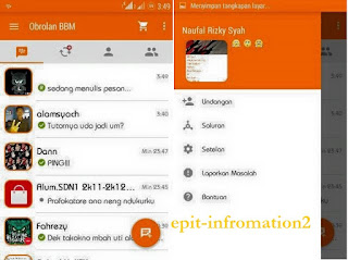 BBM Mod Base 2.9.0.44 Orange Theme Inovation