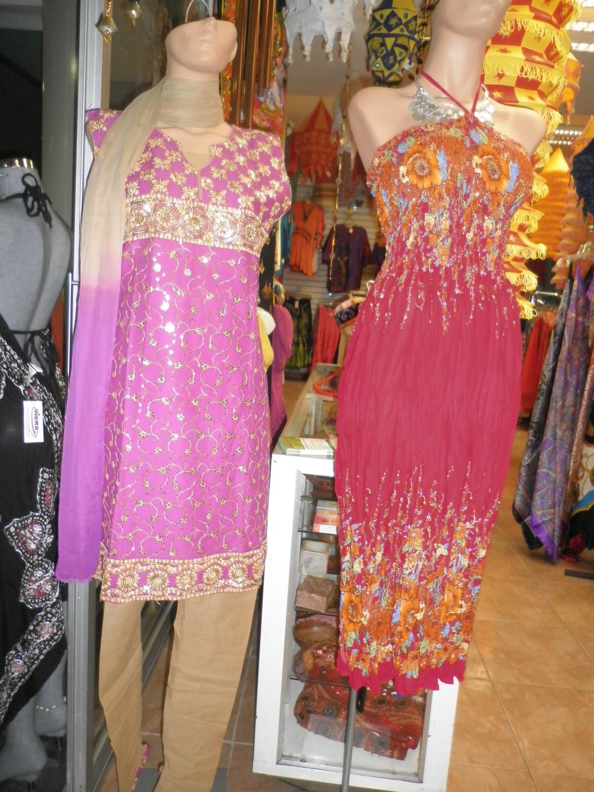 Ropa y artesania de la india lamparas de tela sari kurta - Lamparas de la india ...