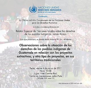 Situación de Pueblos Indígenas en Guatemala