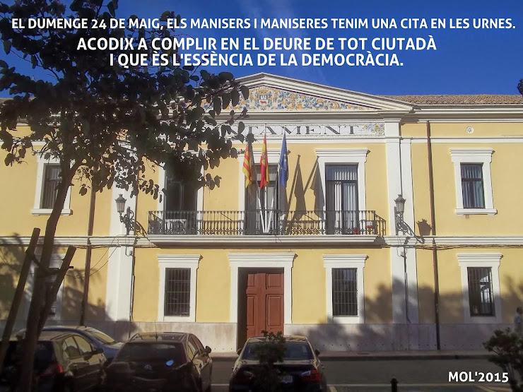 VOTAR EL 24 DE MAIG DE 2015