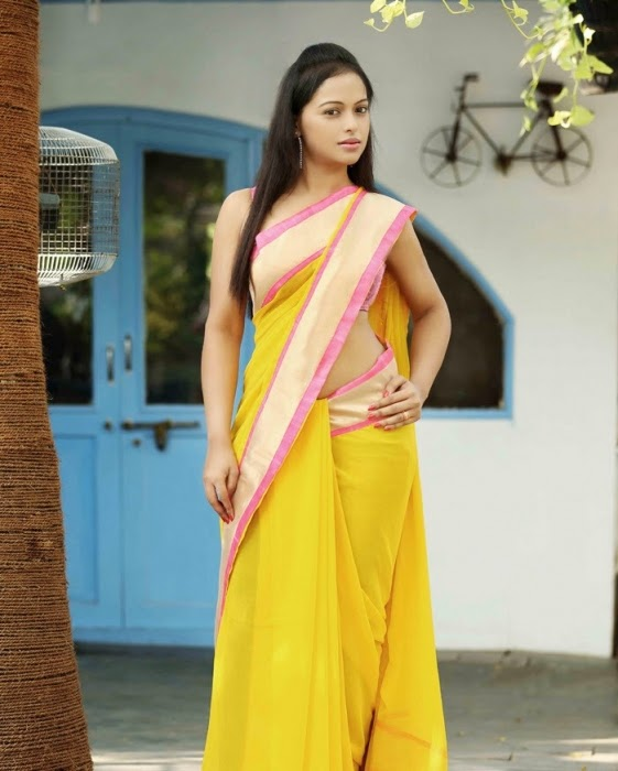 Hridaya Avanti In Spicy Saree Photo Shoot