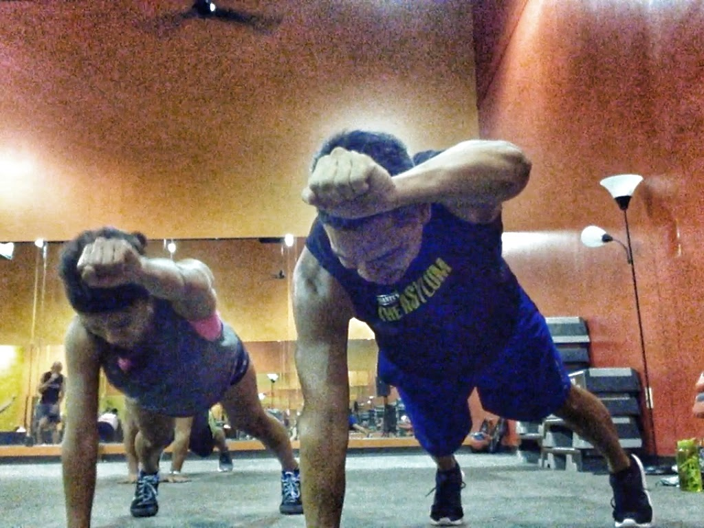 Live Insanity Workout Plank Punches