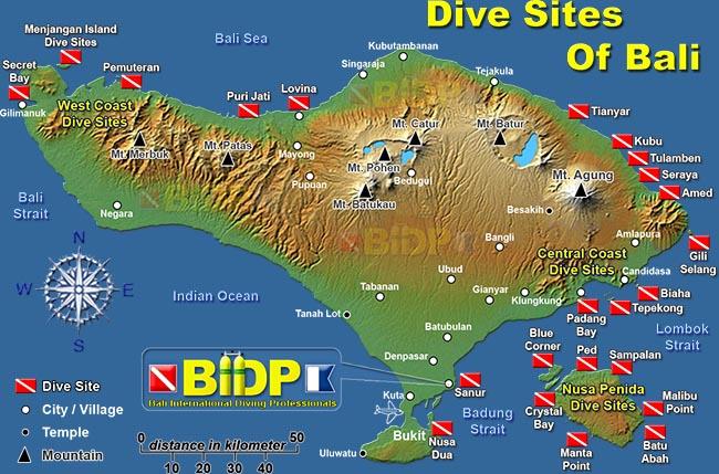 Bali diving spot - Padi dive locations ...