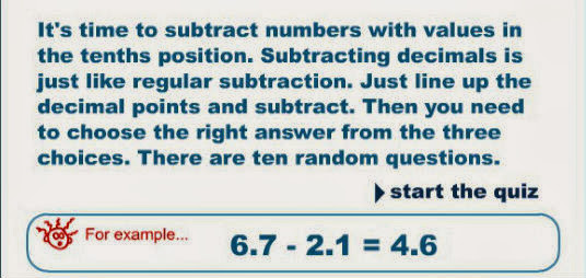 http://www.numbernut.com/advanced/activities/decimal_quiz_sub10th.shtml