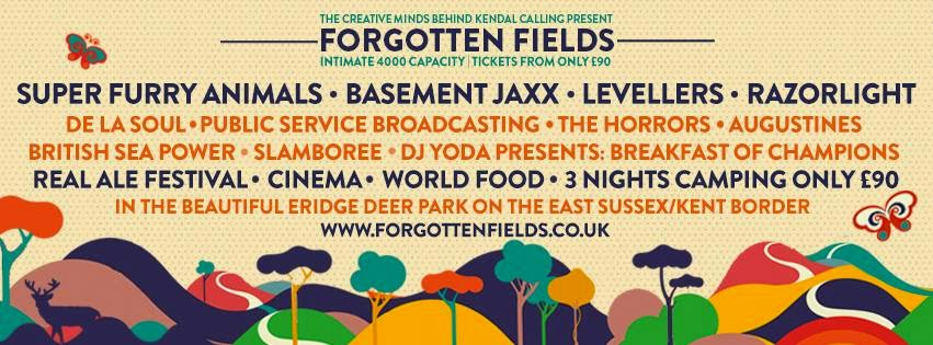 New Stage Lineup Forgotten Fields