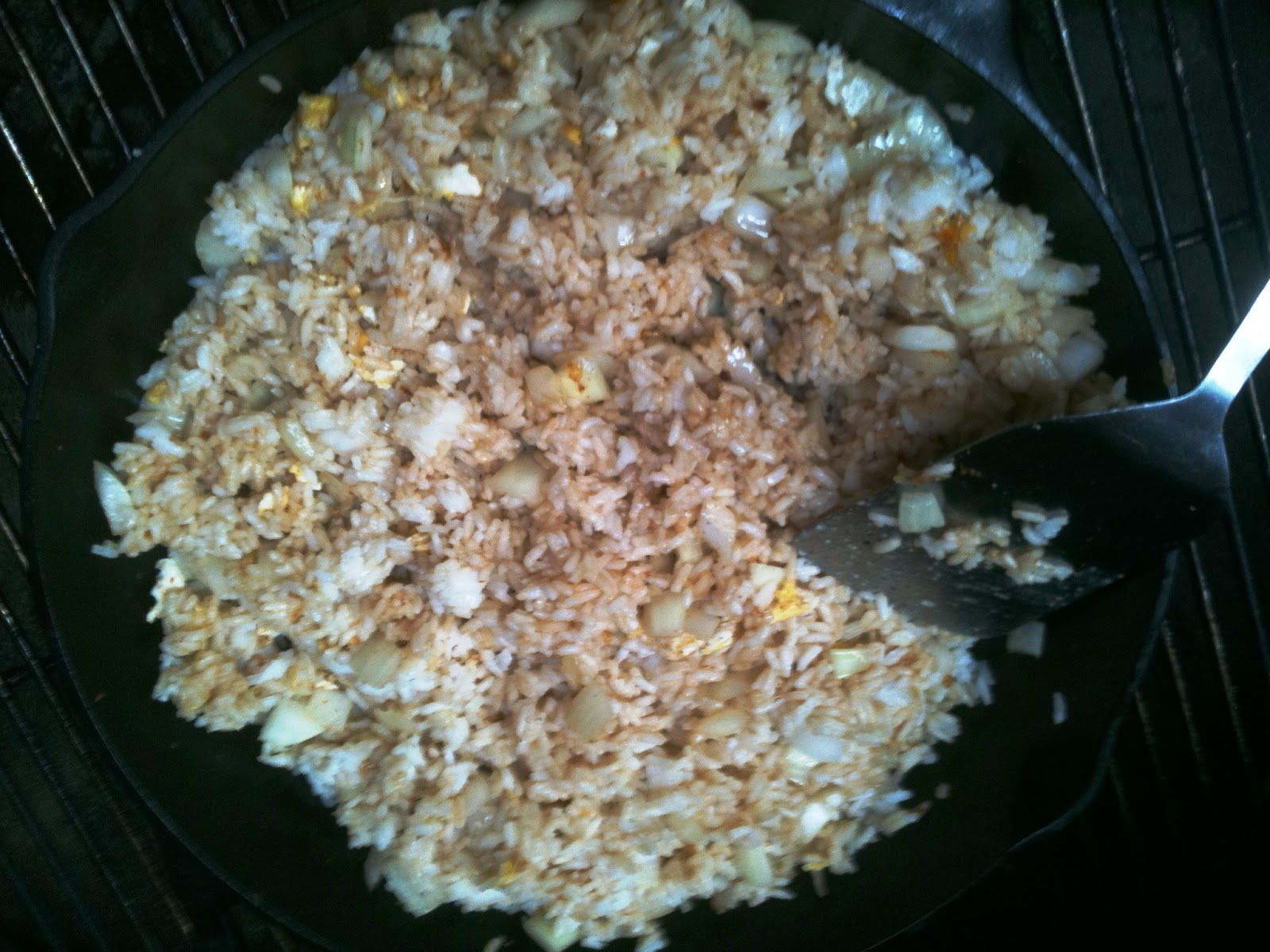 This Recipe For Fried Rice Cooked On The Grill (aka, Grillfried Rice) Goes  Great With Grilled Sweet And Sour Chicken Kabobs And Grilled €�stirfried""