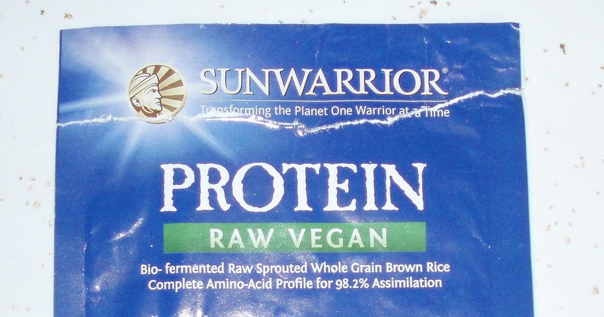 Sun Warrior Protein Raw Vegan Natural Reviews