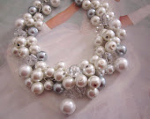 Cluster Pearl Bridal Necklace