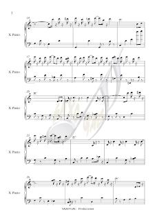 2 Partitura de El Golpe para piano