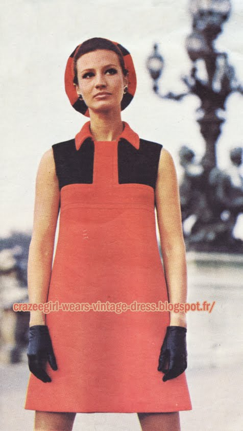 Simonetta dress - 1968 60s 1960 mod