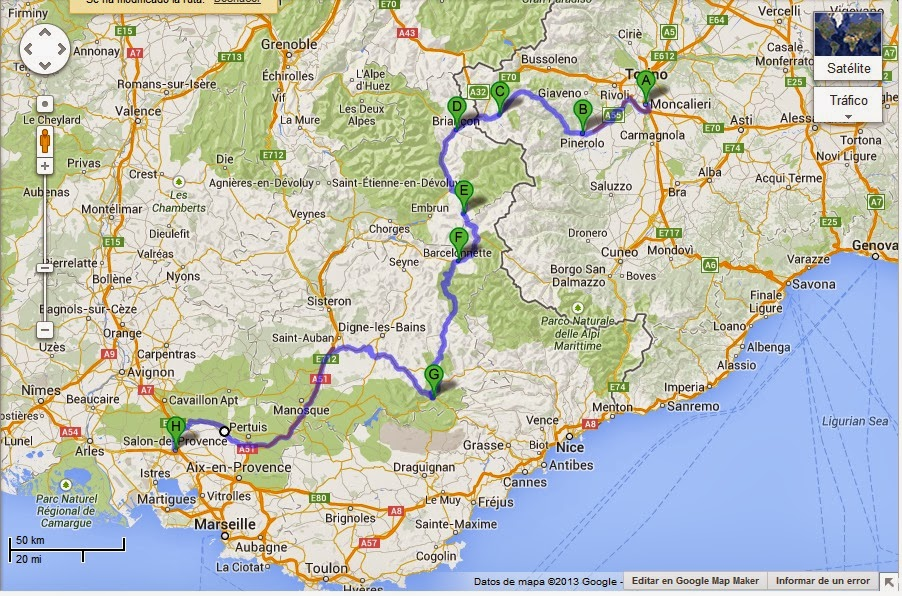Mis viajes y mis motos italia 7 al 18 de agosto de 1993 for Ada salon de provence
