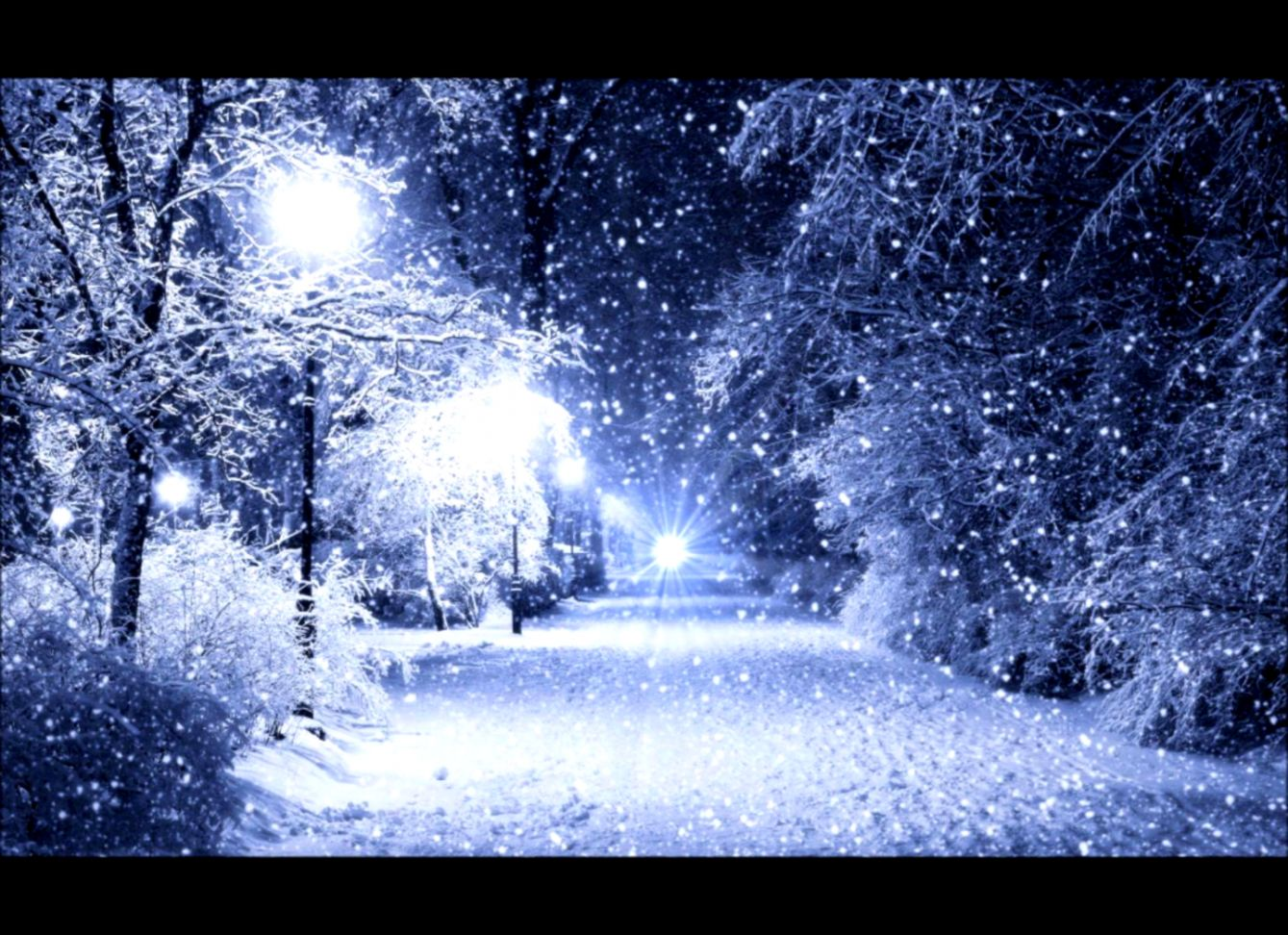 On a snowy winter night   YouTube