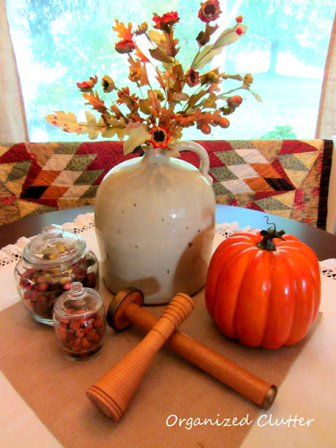 Fall Dining Table Vignette