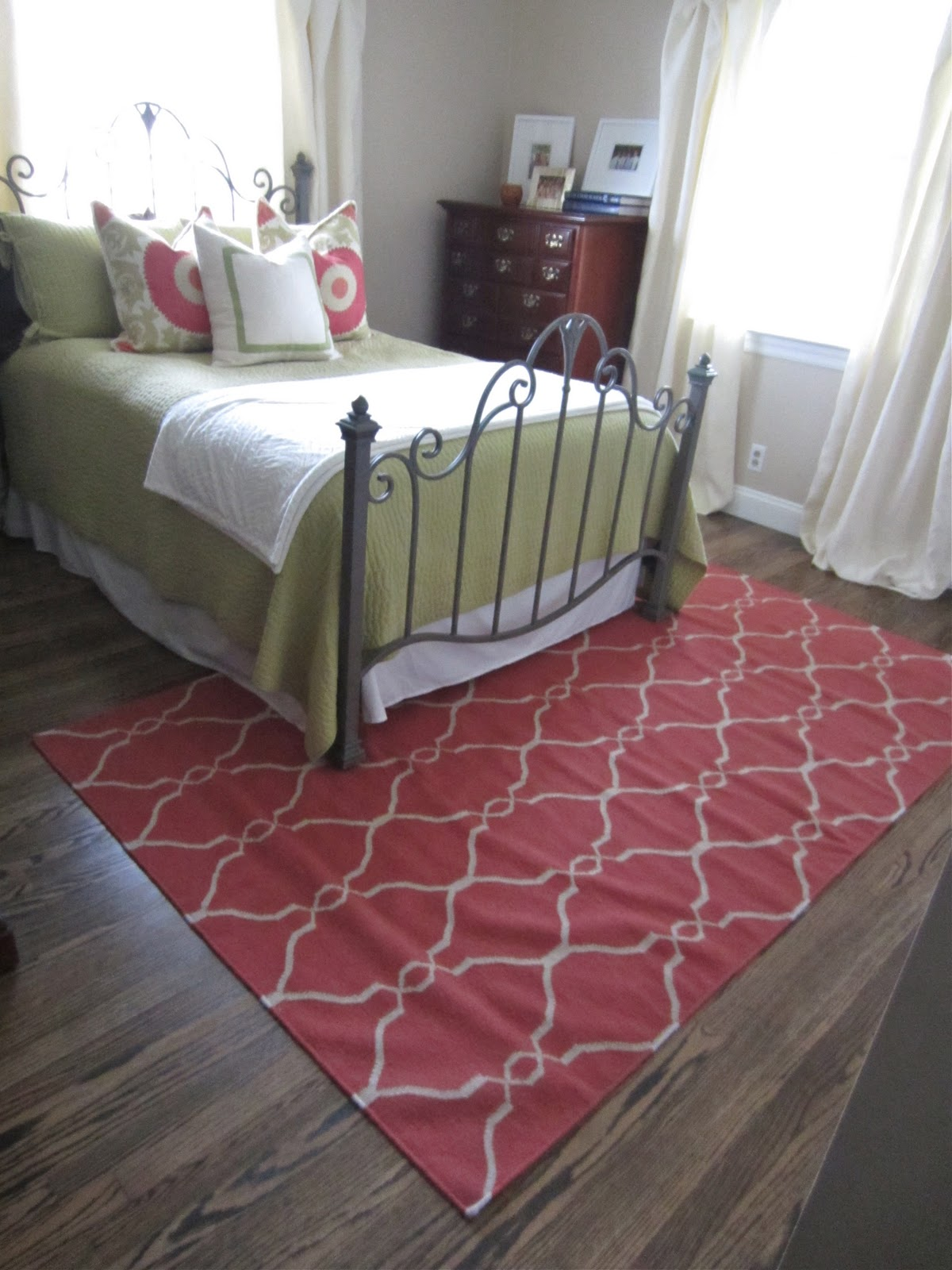 Just a touch of gray guest bedroom rug for Rug in bedroom