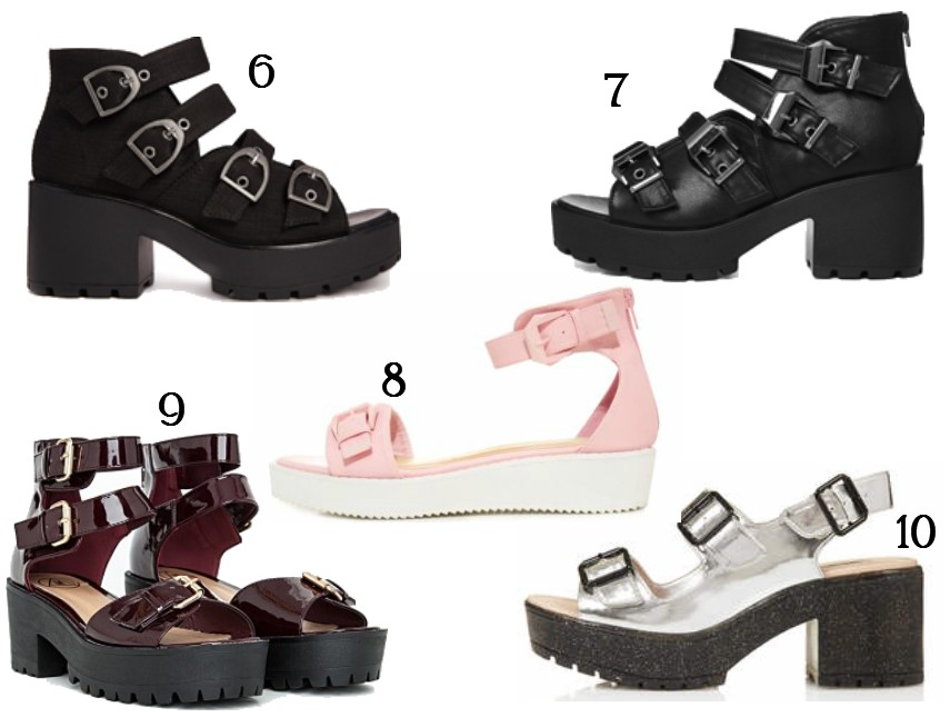 Top Chunky Buckle Sandals Fashion Blog