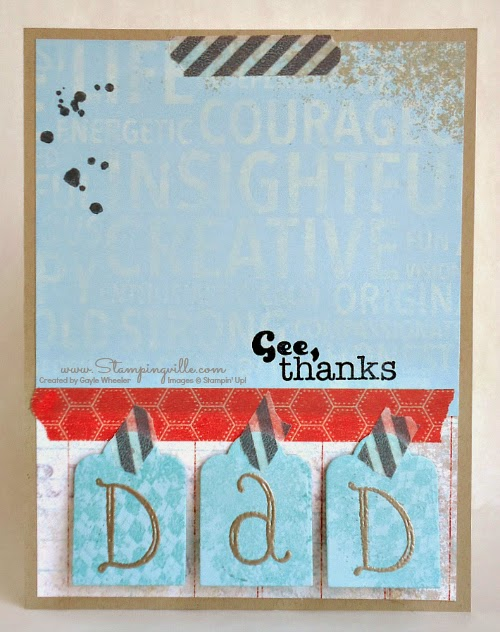 Fun, easy Father's Day Card | Stampingville #cardmaking #papercrafts #StampinUp