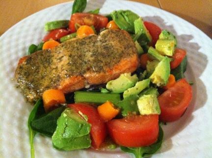 paleo salmon, paleo salad