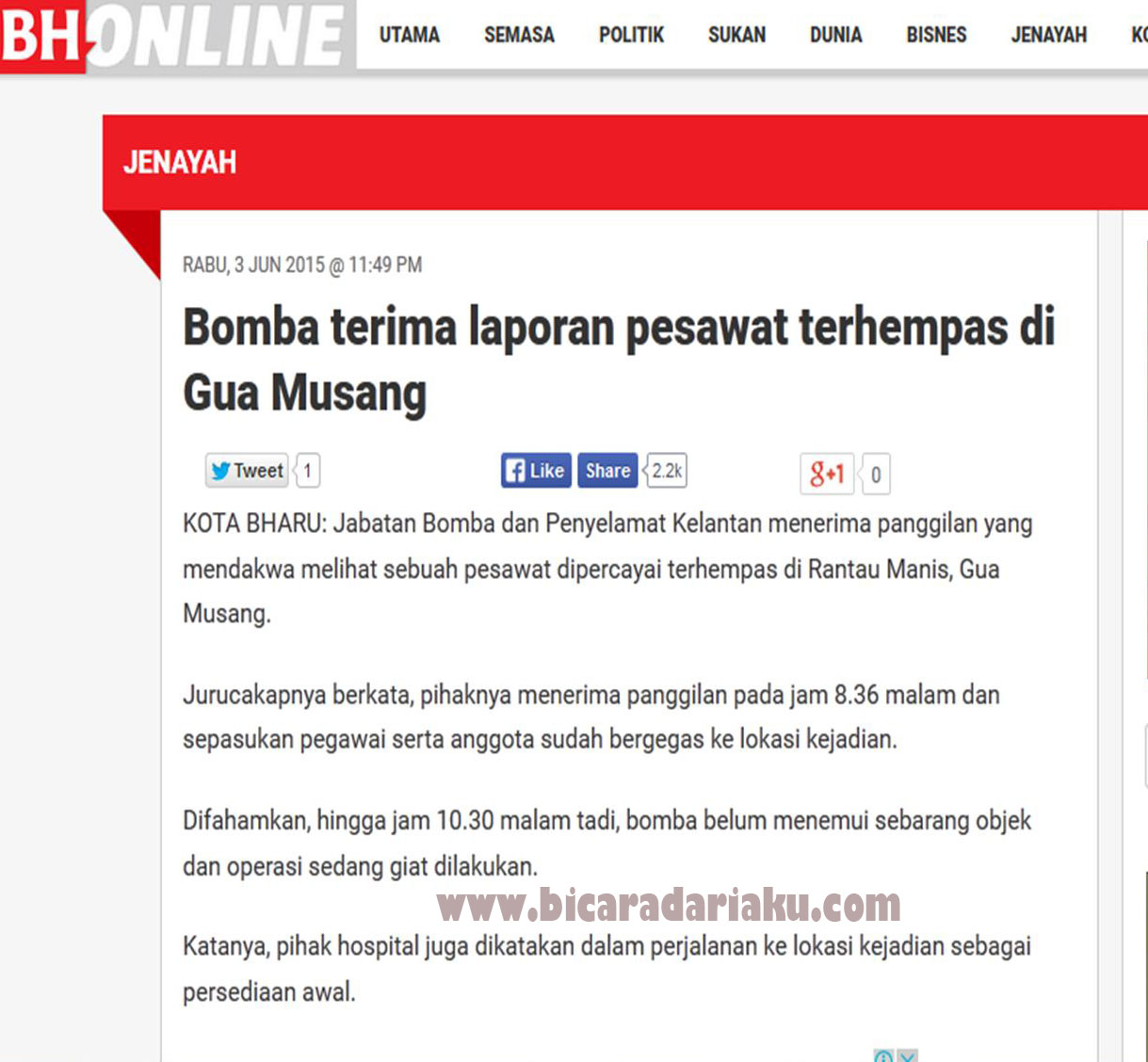 Gua Musang Malaysia  city pictures gallery : Sama ada berita ini benar atau tidak, tidaklah dapat dipastikan lagi ...